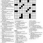 Printable Crossowrd Puzzles Chemistry Tribute Crossword Puzzle Chem – Printable Crossword Puzzles June 2018