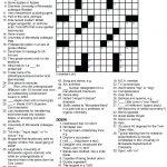 Printable Crossowrd Puzzles Chemistry Tribute Crossword Puzzle Chem   Printable La Times Crossword 2018