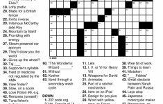 Printable Crossword Puzzles | Free Printable Crossword Puzzles For – Printable Crossword Puzzles Simple Present