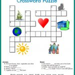 Printable Crossword Puzzles Kids | Crossword Puzzles On Earth   Recycling Crossword Puzzle Printable