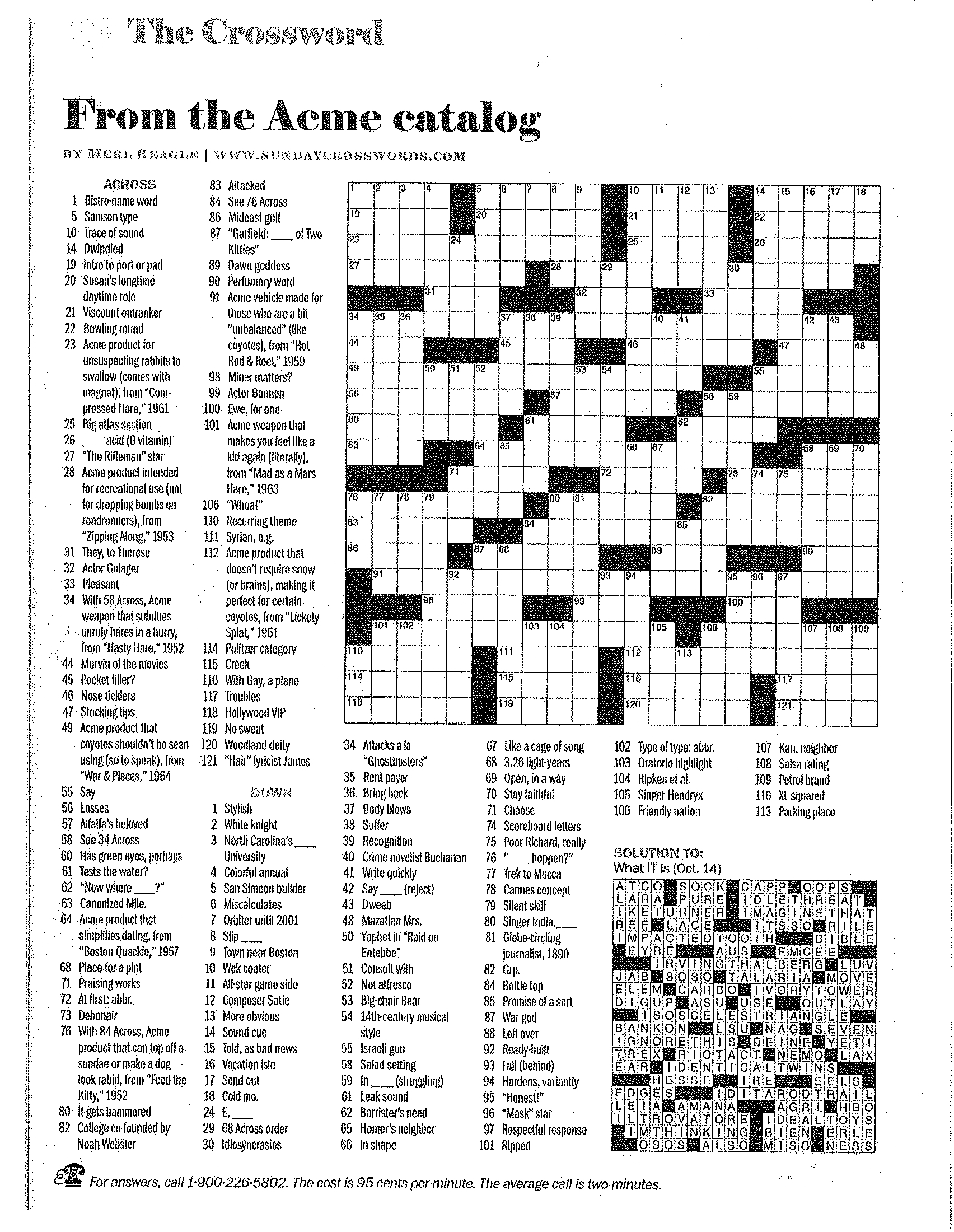 Printable Crossword Puzzles Merl Reagle | Download Them Or Print - Printable Crossword Puzzles Merl Reagle