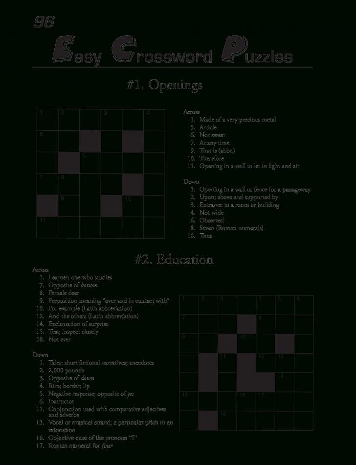 Printable Blank Crossword