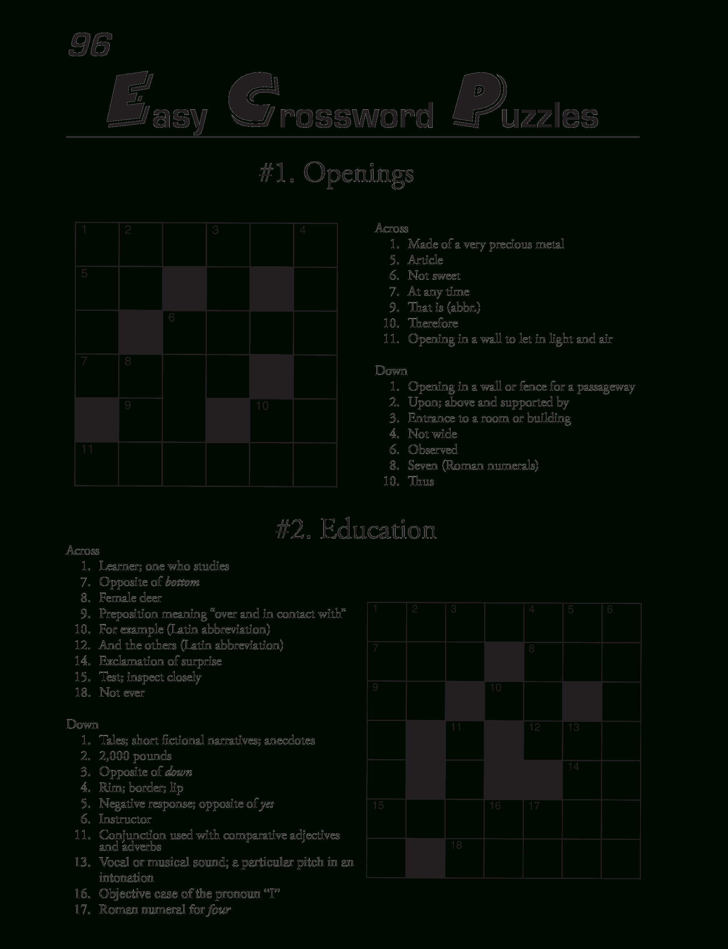 Printable Crossword Puzzles Template   Templates At - Printable Blank Crossword
