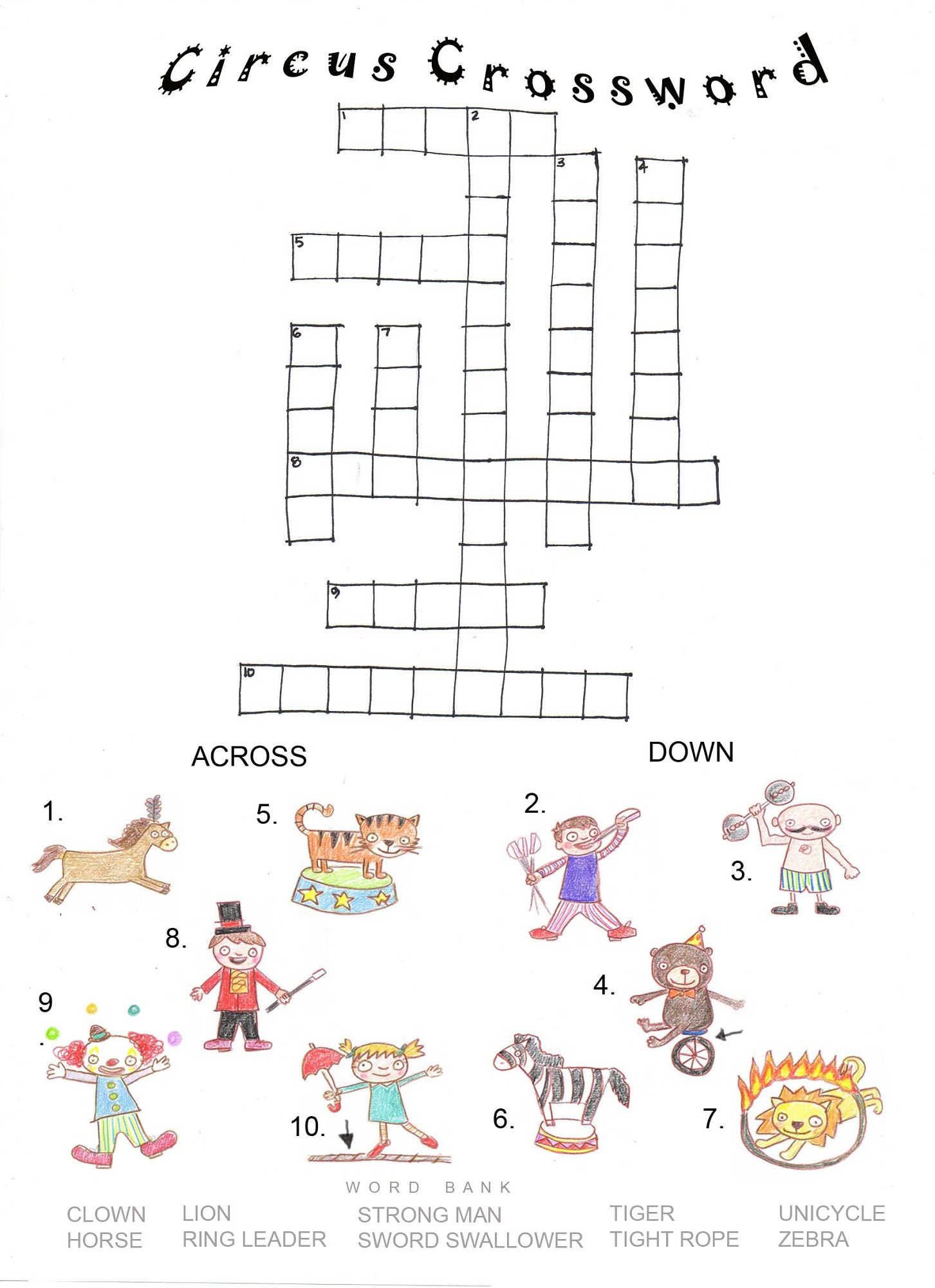 Printable Crosswords Puzzles Kids | Activity Shelter - Horse Crossword Puzzle Printable