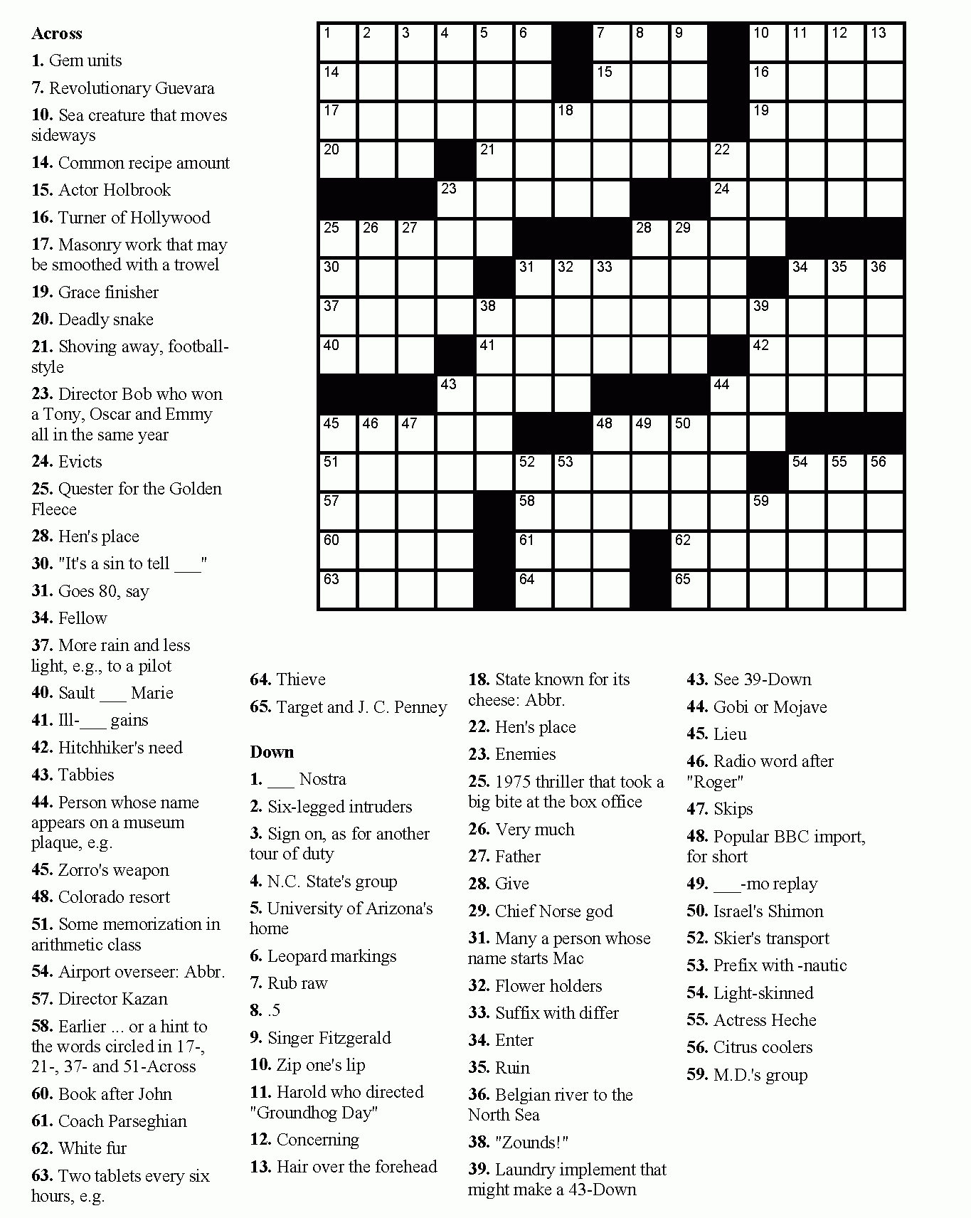 Printable Daily Crossword Puzzle (85+ Images In Collection) Page 2 - Printable Crossword Puzzles 7 Year Old