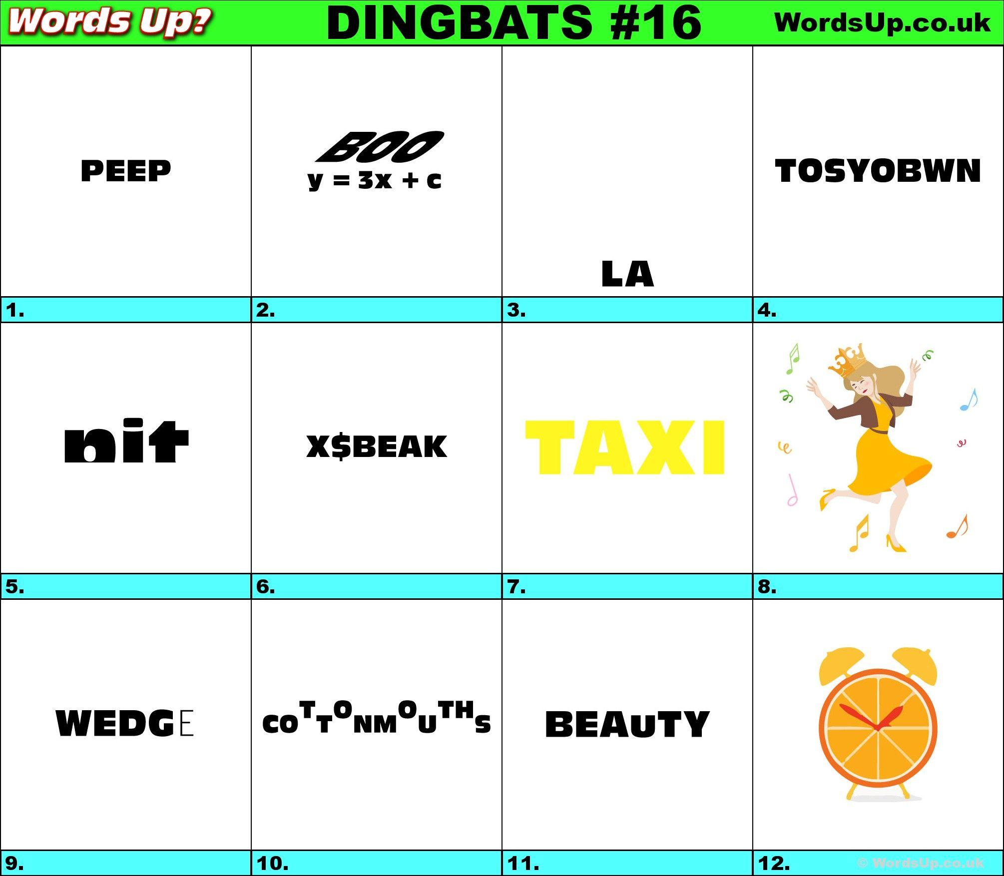 Printable Dingbats #16 - Rebus Puzzles   Rebuses   Rebus Puzzles - Printable Dingbat Puzzles