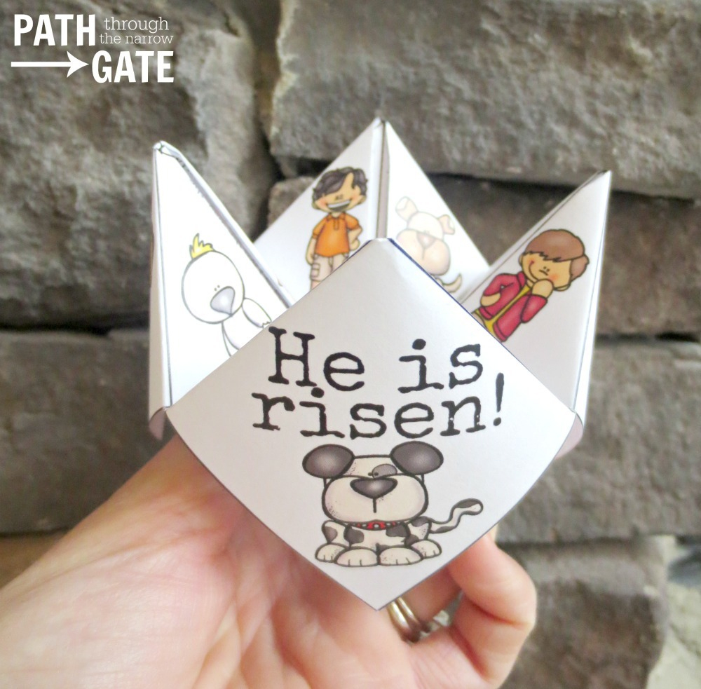 Printable Easter Finger Puzzle With Bible Verses - Perfect For Home - Printable Christmas Finger Puzzle With Bible Verses