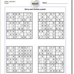 Printable Easy Sudoku | Math Worksheets | Sudoku Puzzles, Maths   Printable Sudoku Puzzles Krazydad