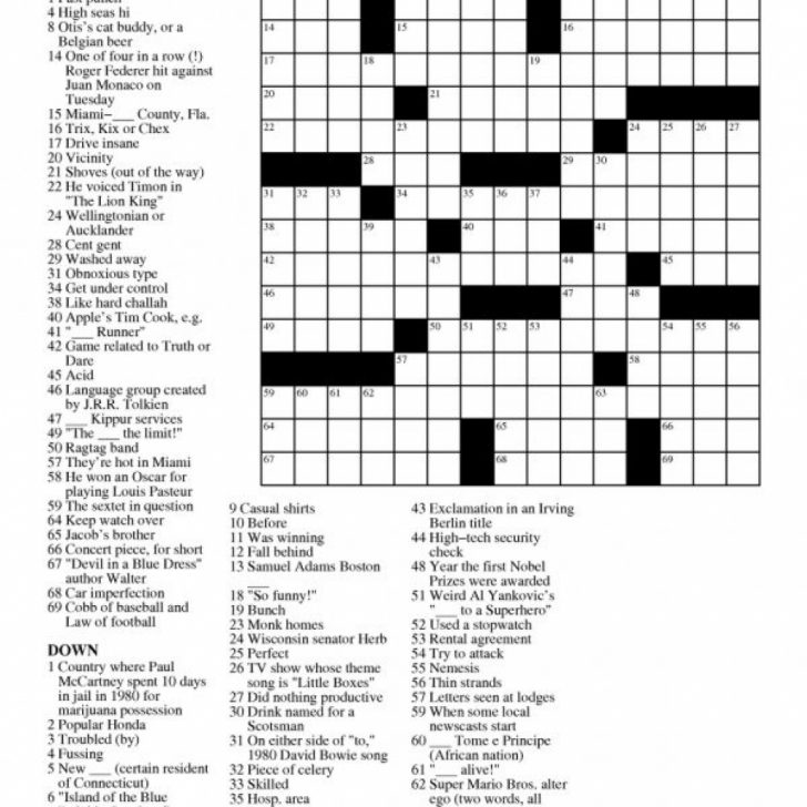 Printable Crossword Letters