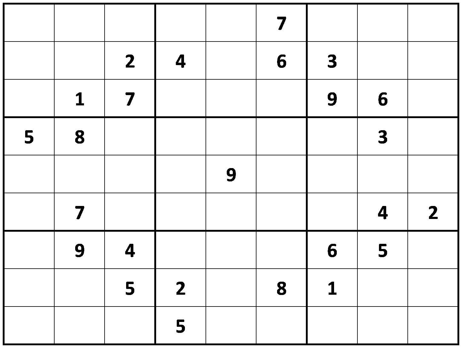 Printable Hard Sudoku   Printable - Difficult Sudoku Puzzles - Printable Sudoku Puzzles Uk