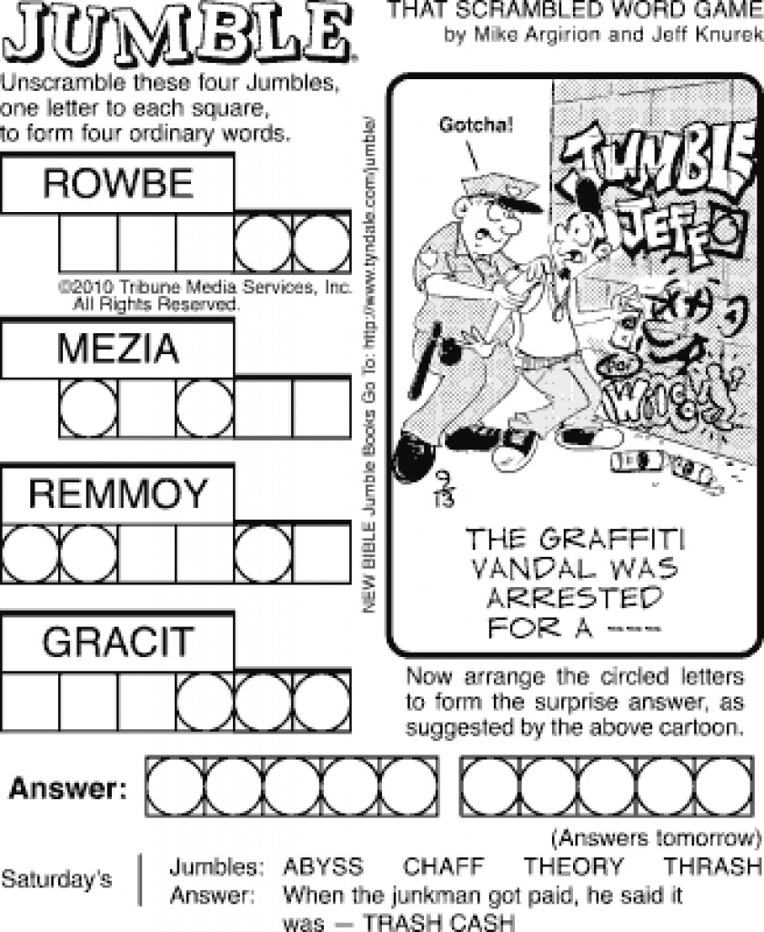 graphic relating to Printable Jumble Crossword Puzzles known as Printable Jumble Crossword Puzzles Printable Crossword Puzzles