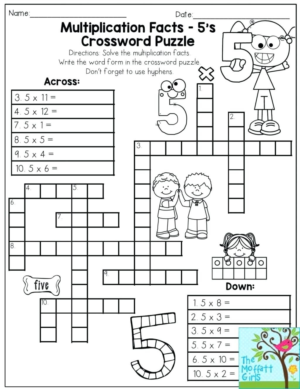 Printable Math Puzzles 5Th Grade Maths Ksheets Middle School Pdf Fun - Printable Math Puzzles For High School