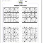 Printable Medium Sudoku Puzzles   Math Worksheets   Sudoku Puzzles   Printable Puzzles And Solutions