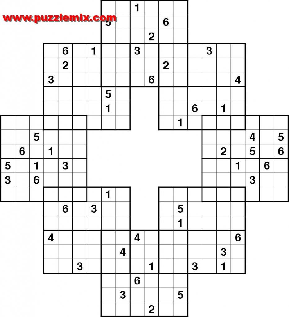 Printable Mega Sudoku Puzzles   Printable Sudoku Free - Printable Puzzles Free