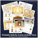 Printable Nativity Scene Activity Pack   Printable Nativity Puzzle