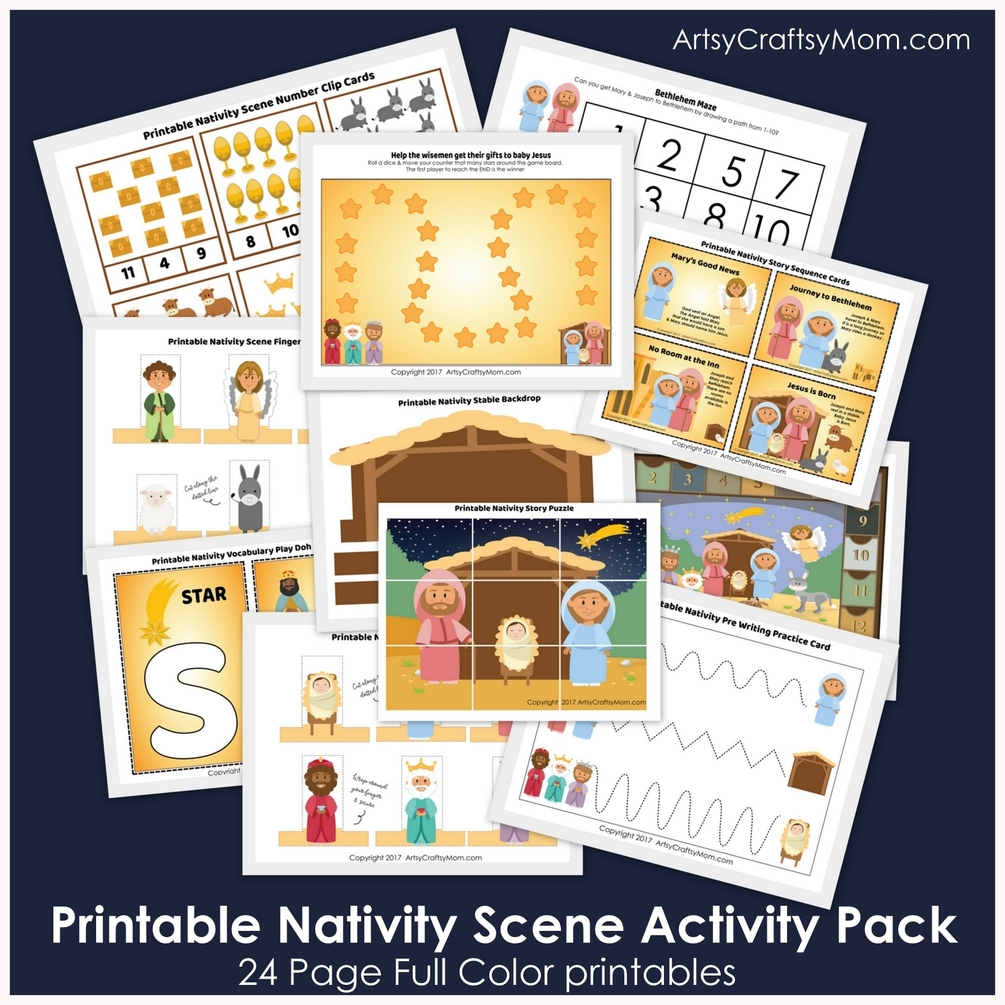 Printable Nativity Scene Activity Pack - Printable Nativity Puzzle