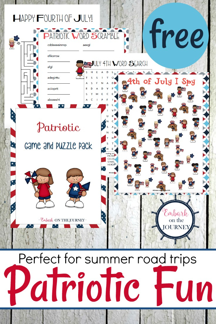 Printable Patriotic Games And Puzzles Pack For Kids - Printable July 4Th Puzzles