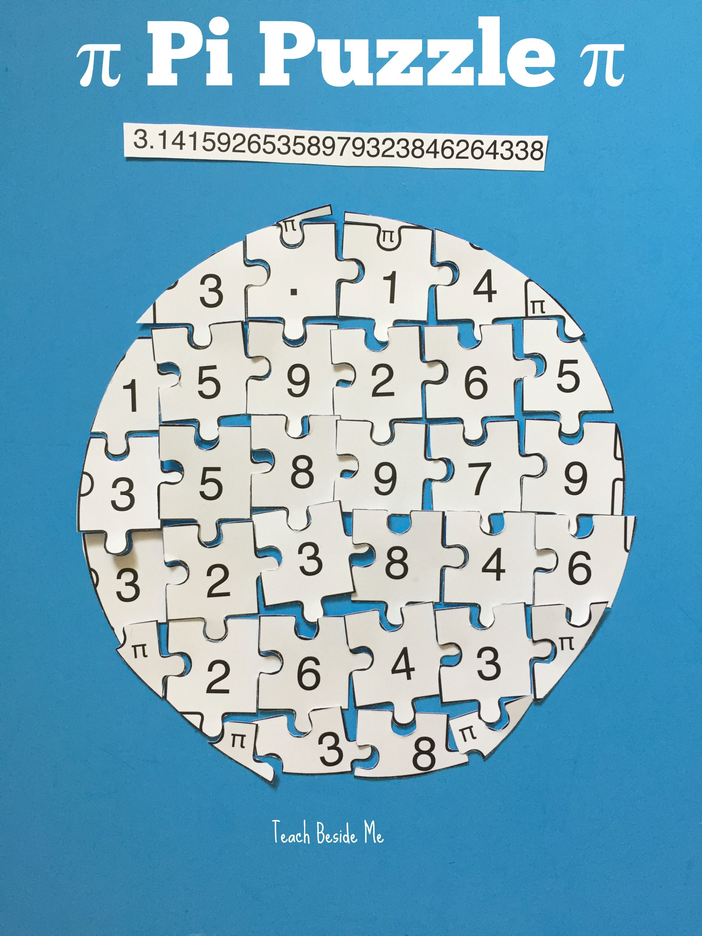 Printable Pi Puzzle For Pi Day | Teach Beside Me | Teaching Math - Printable Daily Puzzle