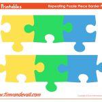 Printable Puzzle Piece Border – Tim's Printables   Printable Puzzle Paper