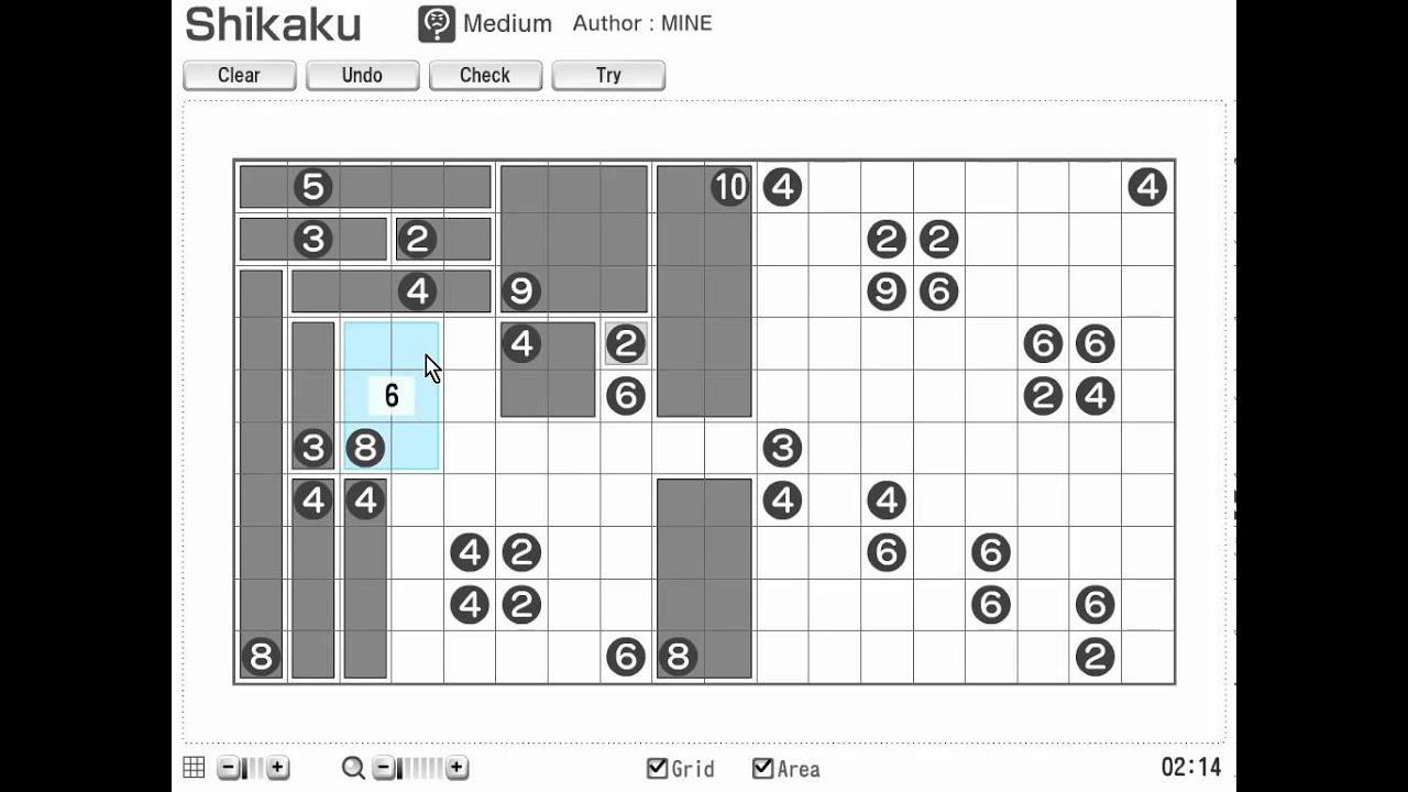 Printable Shikaku (Sikaku) Nikoli Number And Logic Puzzles For Math - Printable Hidato Puzzles