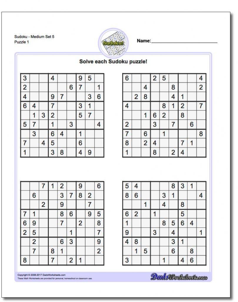 Printable Sudoku 4 Per Page | Printable Sudoku Free - Printable Sudoku Puzzles 6 Per Page