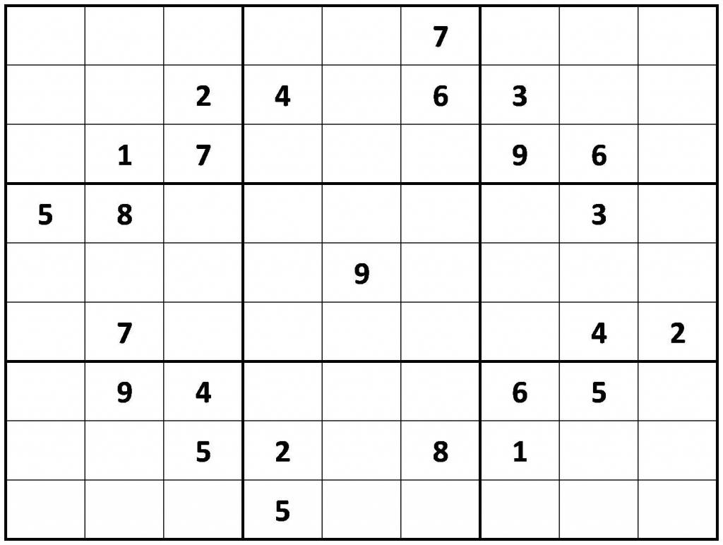 Printable Sudoku Classic | Printable Sudoku Free - Printable Sudoku Puzzles Medium #3