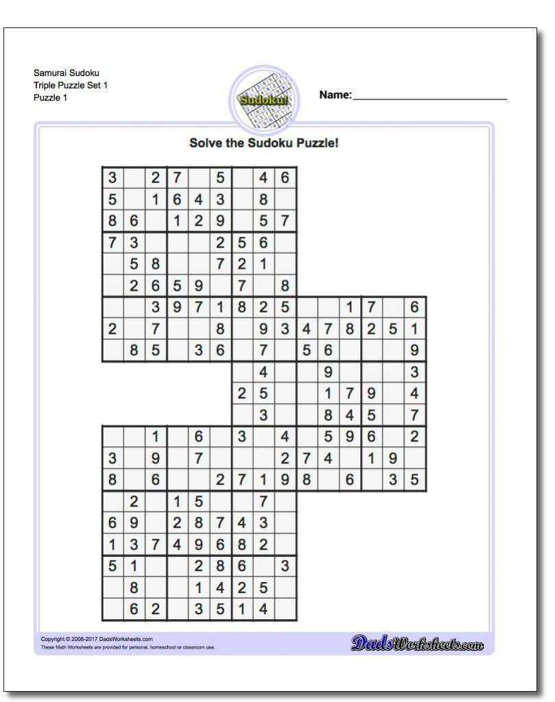 Printable Sudoku Free - Printable Puzzles By Krazydad