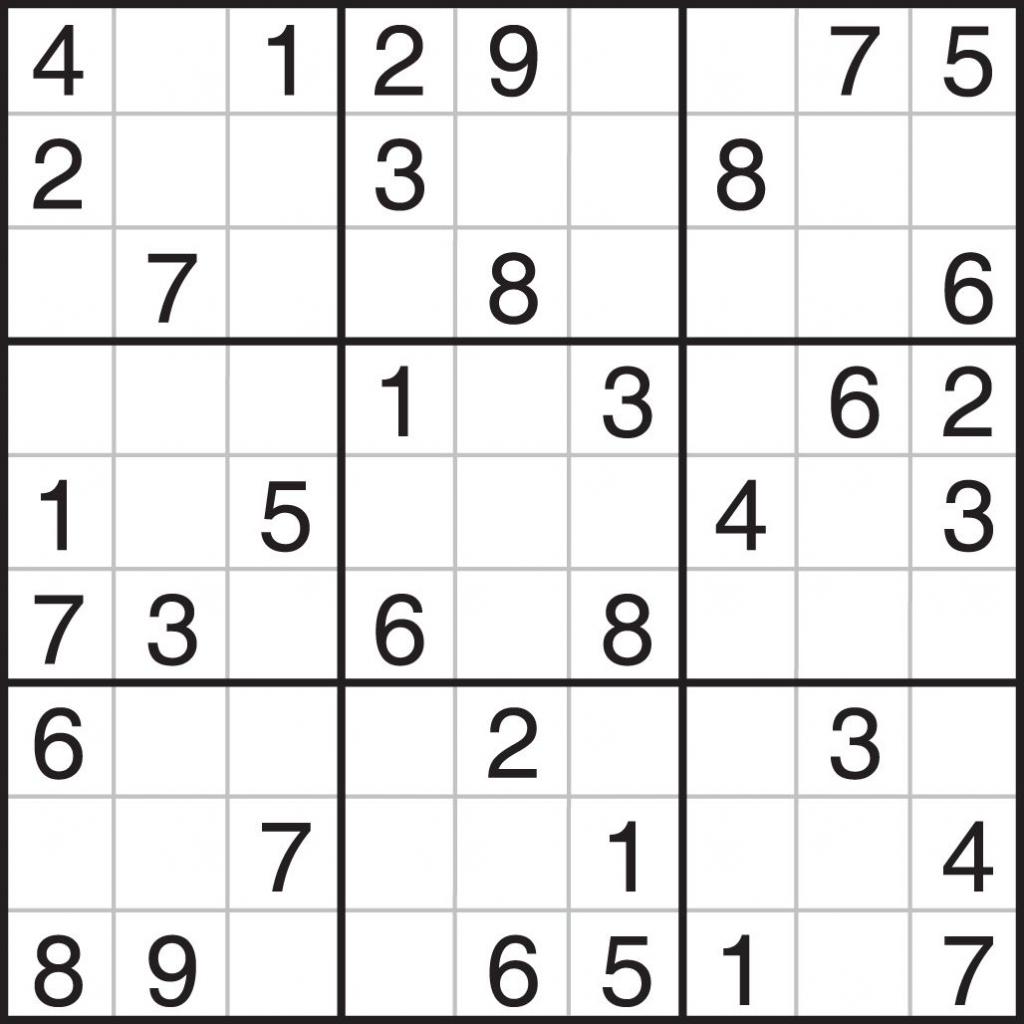 Printable Sudoku Free - Printable Sudoku Puzzles 9X9