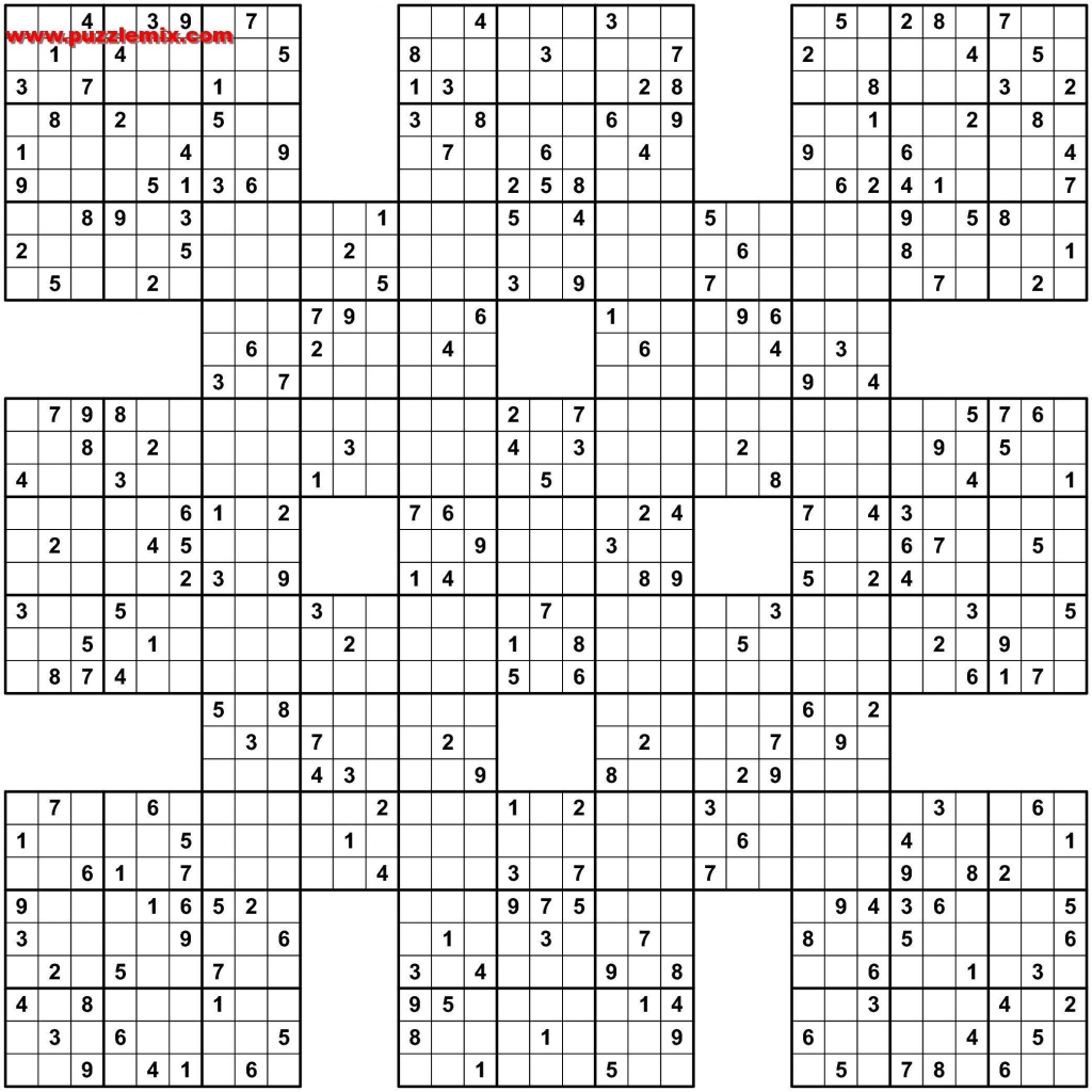 Printable Sudoku Free - Sudoku X Printable Puzzles
