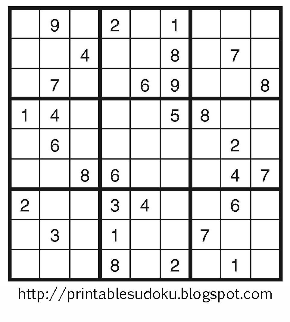 Printable Sudoku - Printable Sudoku Puzzle Grids