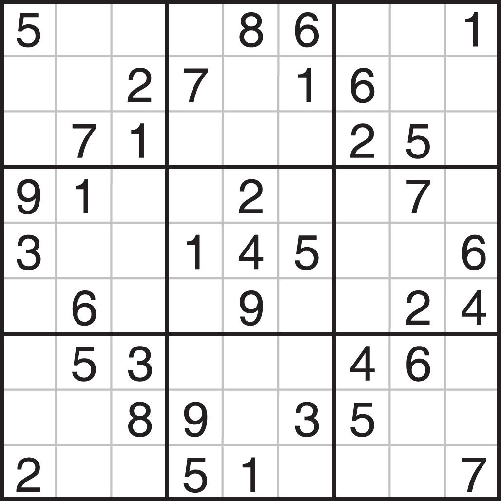 Printable Sudoku - Printable Sudoku Puzzle Medium