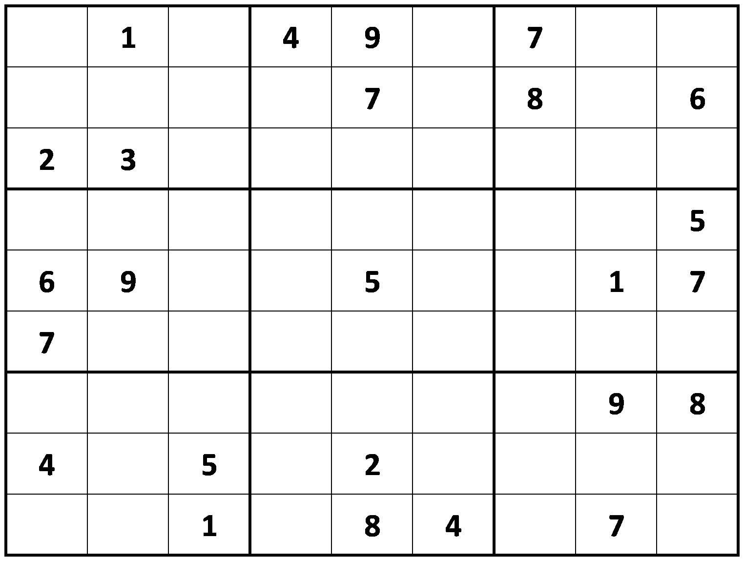 Printable Sudoku - Printable Sudoku Puzzle Site