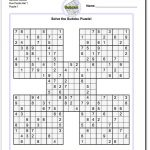 Printable Sudoku Puzzle Samurai Five Puzzle Set 1! Printable Sudoku   Printable Puzzles With Answers