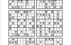 photograph relating to Printable Sudoku 6 Per Page named printable tangram puzzle sections Printable Crossword Puzzles