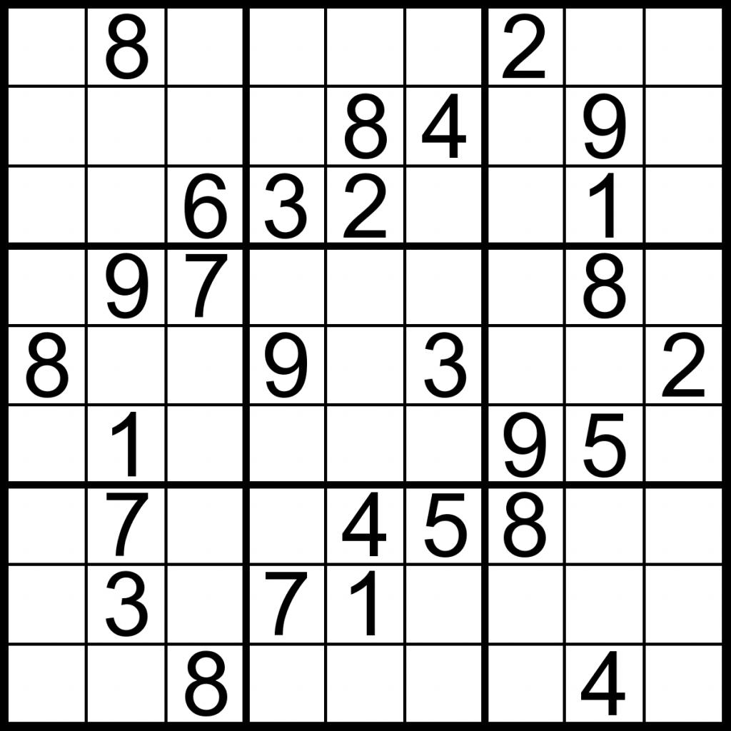 Printable Sudoku Puzzles Medium | Printable Sudoku Free - Printable Sudoku Puzzles Medium