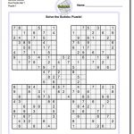 Printable Sudoku Samurai! Give These Puzzles A Try, And You'll Be   Printable Sudoku Puzzles 3X3
