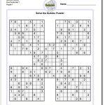 Printable Sudoku Samurai! Give These Puzzles A Try, And You'll Be   Sudoku X Printable Puzzles