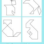 Printable Tangrams   An Easy Diy Tangram Template | Art For   Printable Tangram Puzzle Outlines