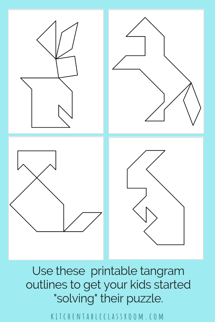 Printable Tangrams - An Easy Diy Tangram Template | Art For - Printable Tangram Puzzle Outlines