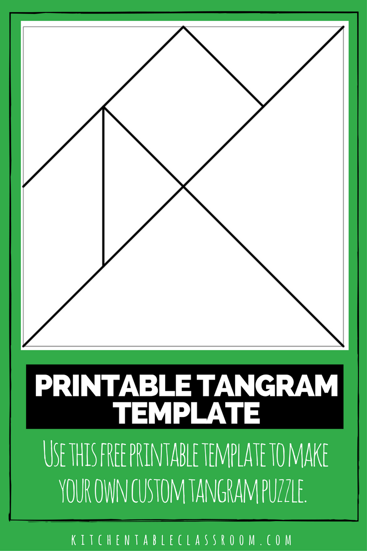 Printable Tangrams - An Easy Diy Tangram Template | Circle | Tangram - Printable Tangram Puzzle Templates