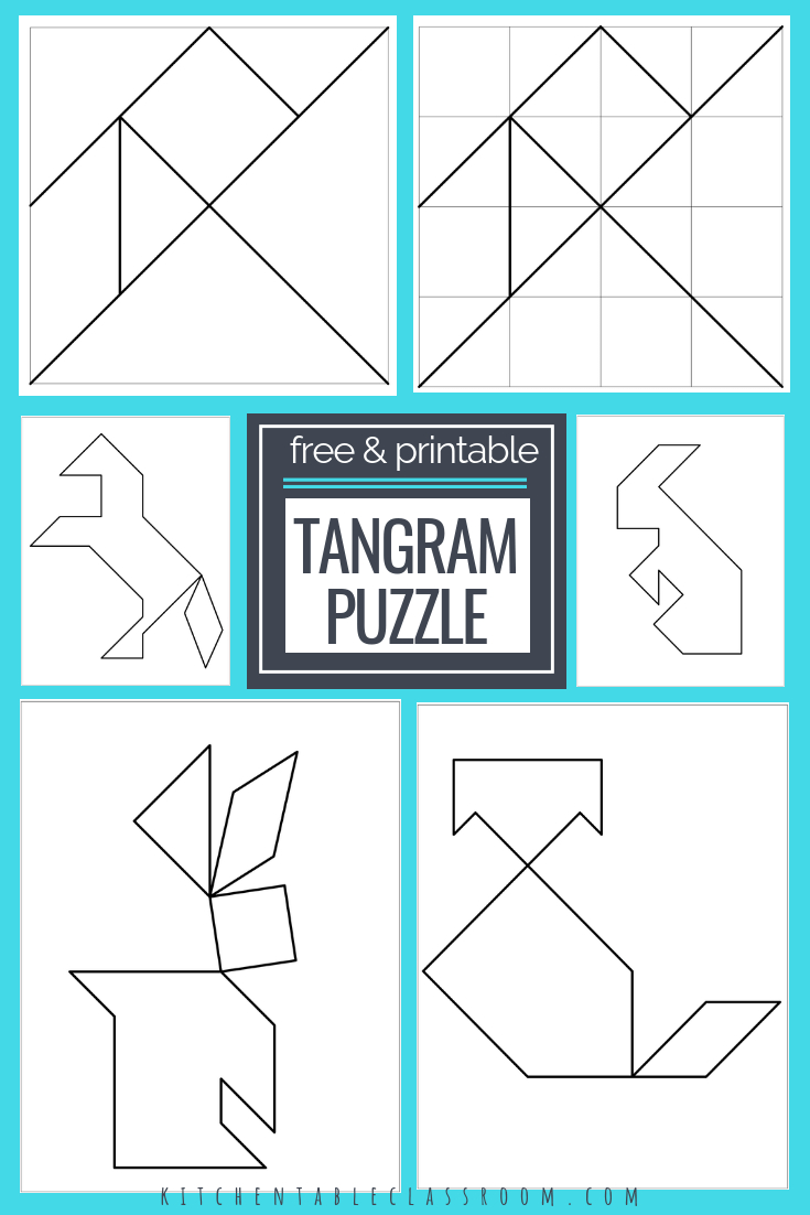 Printable Tangrams - An Easy Diy Tangram Template | Free Homeschool - Printable Tangram Puzzle Templates
