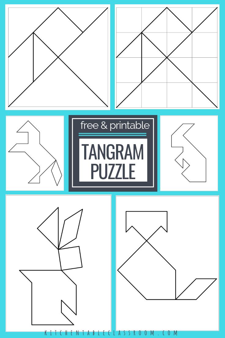 Printable Tangrams - An Easy Diy Tangram Template | Free Homeschool - Printable Tangram Puzzles