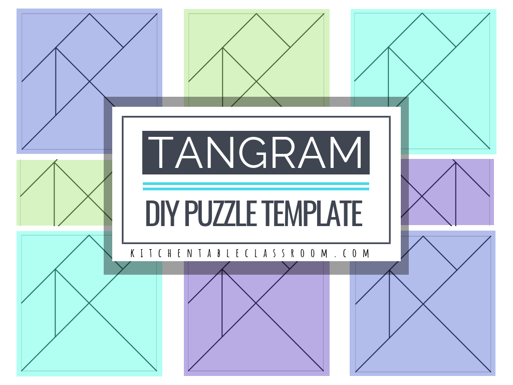Printable Tangrams - An Easy Diy Tangram Template - The Kitchen - Printable Tangram Puzzle Outlines