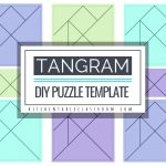 Printable Tangrams   An Easy Diy Tangram Template   The Kitchen   Printable Tangram Puzzles Pdf