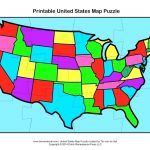 Printable Us State Map Puzzle | World Map   Printable Puzzle Map Of The United States