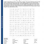 Printable Worksheets   Printable Worksheets Word Puzzle