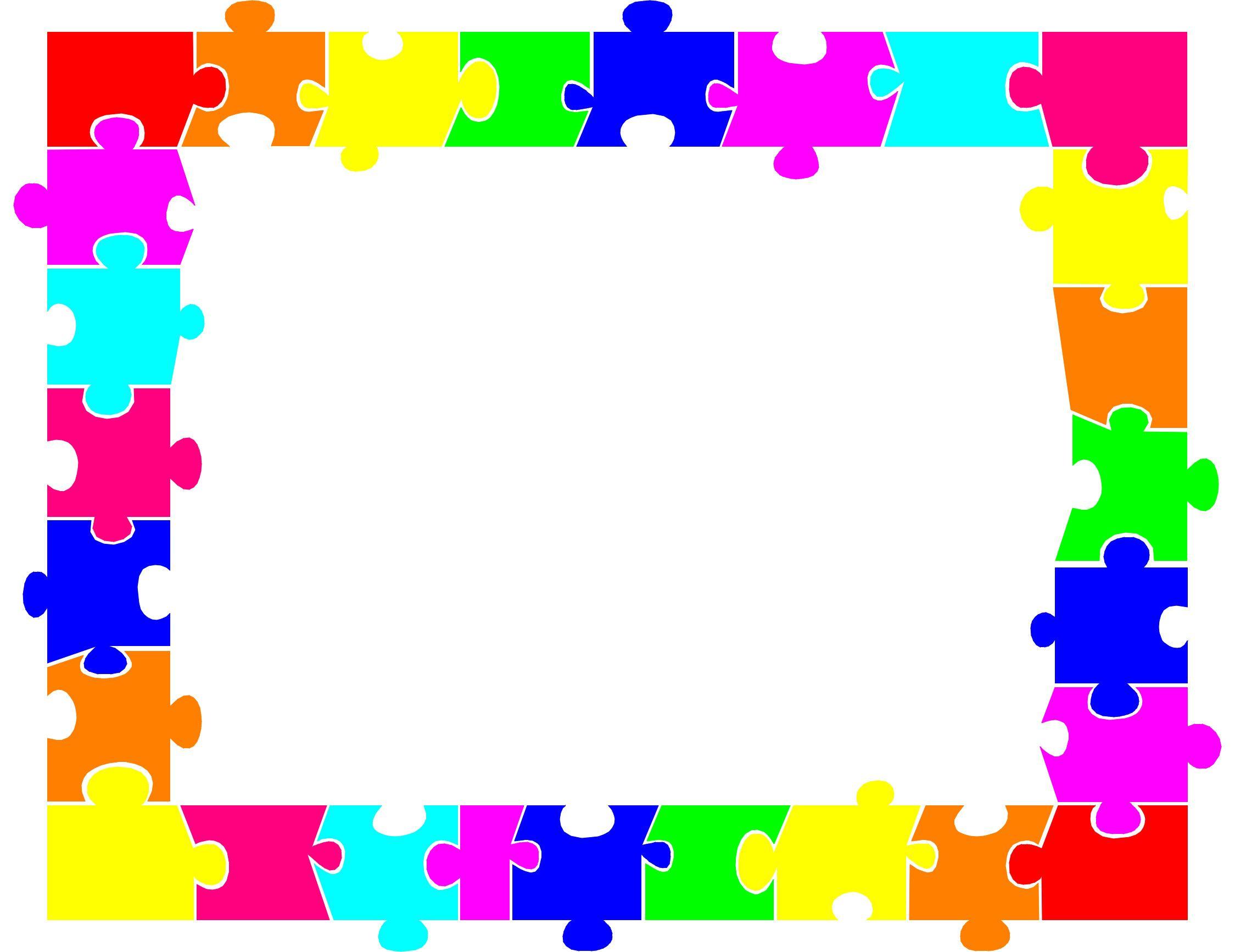 Puzzle Border - Clipart Best   Christmas   Printable Border, Color - Printable Rainbow Puzzle