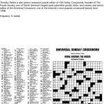 Puzzles And Games From Universal Press Syndicate   Pdf   Printable Crossword Puzzles Timothy Parker