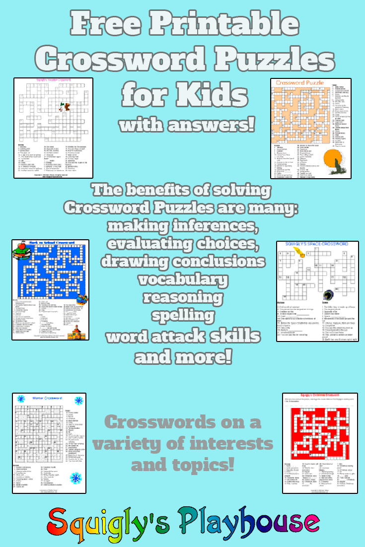 Puzzles For Kids At Squigly's Playhouse - Printable Puzzles With Answers