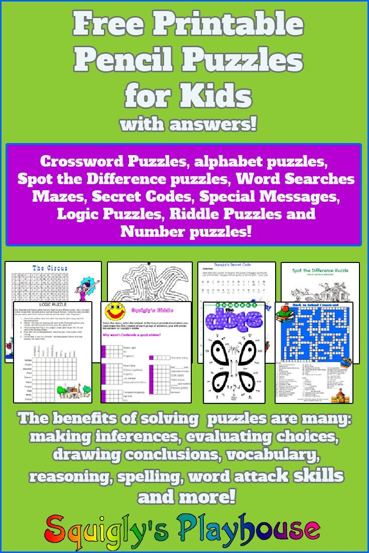 Puzzles For Kids | My Class | Word Puzzles For Kids, Puzzles For - Printable Pencil Puzzles